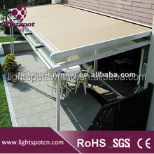 outdoor used aluminum pergola roof canopies for sale,motorized waterproof Wind resistance used pergola roof canopies for sale