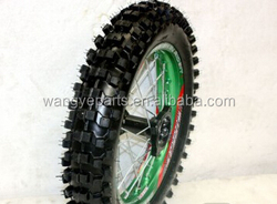 "Green 15mm Axle 90/100- 14"" Inch Rear Wheel/Dirt Bike Parts/Pit Bike Parts"