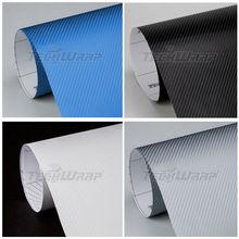 TeckWrap coches etiqueta de precio al por mayor el 1.52 * 20 5 * 65ft 5 colores folie carbono 4d para la decoración del cuerpo d