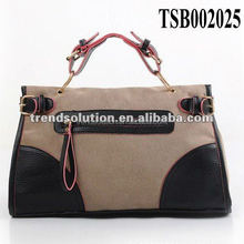 hot sale fashion women suede handbag with outside pocket