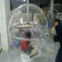 2015 popular wholesale large clear acrylic hollow balls/domes plastic balls giant plastic ball for performance