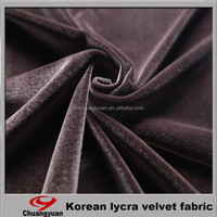 2015 Chinese Popular Polyester Spandex Warp Knitting Velvet Fabric