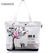 hot sale long handle tote bag extra large canvas tote bag