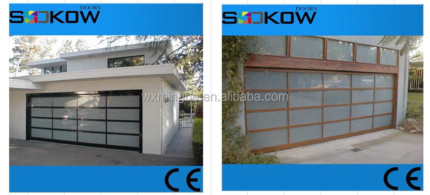 Frosted Polycarbonate Garage Door With Transparent Glassoverhead