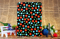 Colourful circle dot leather standing case for ipad air ipad 5 PU smart cover case