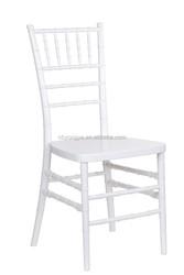 White polypropylene Material factory resin chivari chair