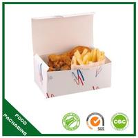 flat pack take away food grade fries chicken box wholeslae