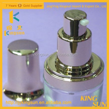 High Quality Clear Glass Spray Pump Lotion Bottle for Cosmetics