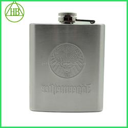 6oz plain factory manufacture hip flask