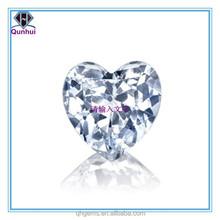 Fabulous Heart Shaped White Cubic Zircon