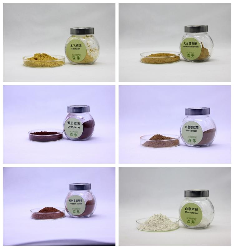 Fda enregistré fabricant prix 8% triterpène Glycosides actée à grappes noires extrait de racine