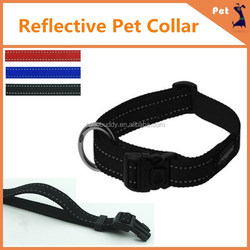 High quality Hand-made Pet dog products reflective dog collar and leash in factory price
