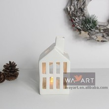 Carving Porcelain House Candle Holder for Chirstmas Crafts