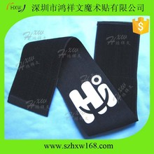 50*380MM Eco-Friendly adjustable Elastic velcro strap with logo printed