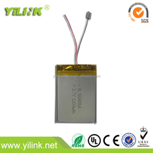 3.7v 1200mAh chargeable batteries