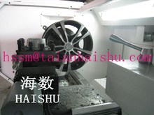 CK6187W Motorcycle/car alloy wheel CNC lathe repair equipment with high quality and low price