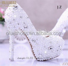 Ow16 mulheres sonho diamante de salto alto lindo sapatos de dança de casamento