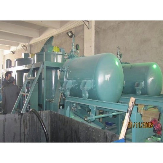 Black engine oil recycling machine series lye oil for Motor oil recycling center