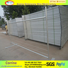 Galvanized/Powder Coated temporary metal fence panels for construction