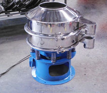 1 deck rotary vibrating filter machine for filtering rice wine,coarse parm oil with GMP standard,TOP SANITARY!