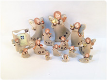decorative gift set resin figurine/fridge magnet/key chain/photo frame angel