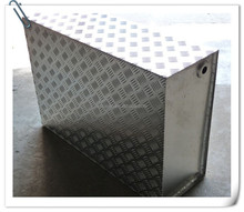 high quality Aluminum checkered plate water box for equipment parts