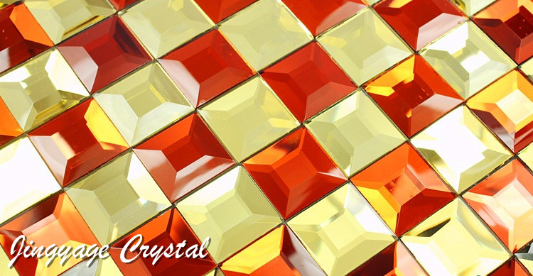 Diamond 5 surface glass mosaic tiles 30*30mm crystal mosaic