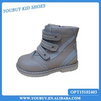 Kids boys rigid arch support high heel orthopedic shoes