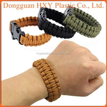 adjustable steel shackle connected braided healthy-care Personalized Customized wholesale paracod bracelet