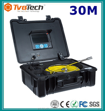 Waterproof Drain Pipe & Wall CCTV Inspection Camera Recordable 30M Push Rod Fiberglass Cable With DVR And Meter Counter