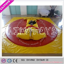 Lilytoys best quality yellow inflatable sumo game/inflatable playground equipment