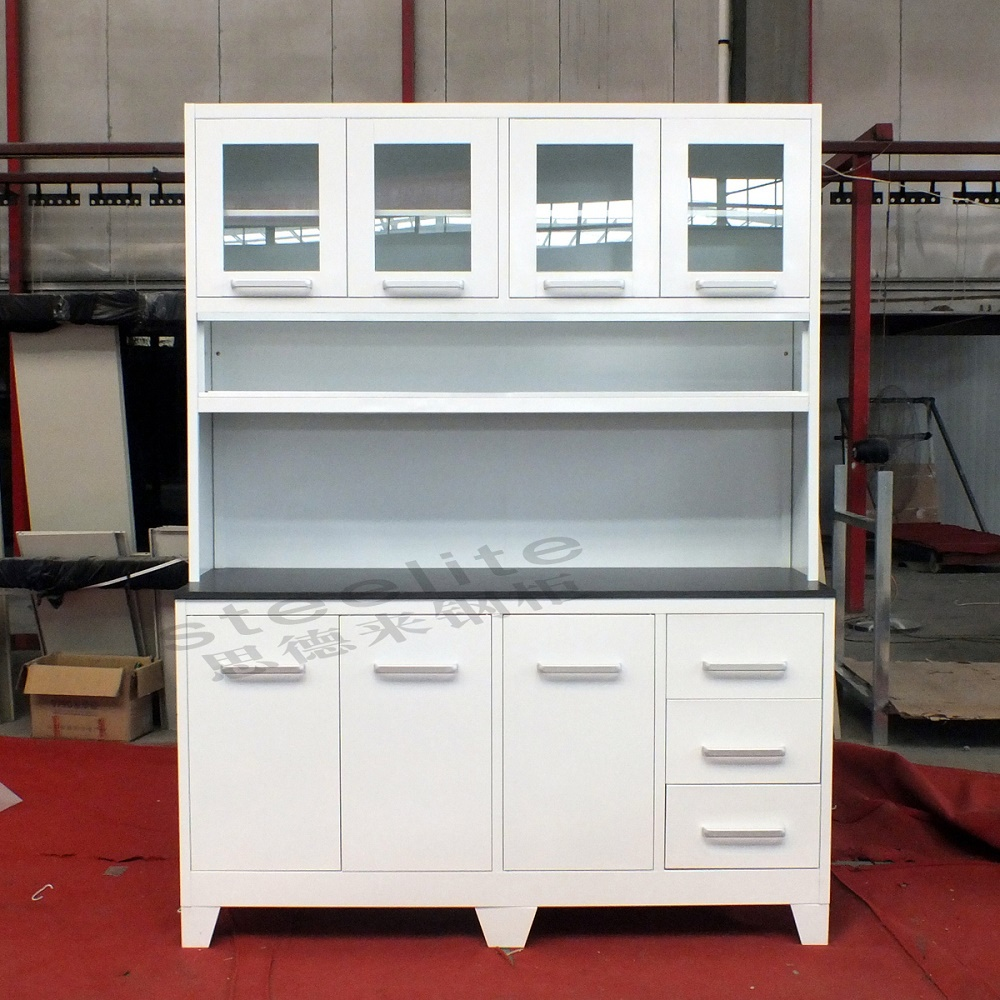 Modern steel metal kitchen cupboard metal kitchen cabinets for Steel kitchen cabinets