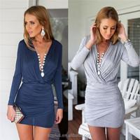 Fashion Women Elegant Wrap Dress Sexy Slim Pleated Business Day Dresses Party Pencil Bodycon Vestidos Summer Dress Sale