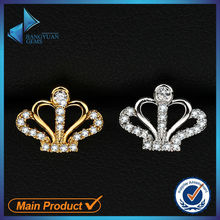 wholesale crown shape earring with cz gemstone