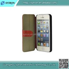 100% Real Genuine Leather Customized Printing Phone Case For Iphone 5/5S