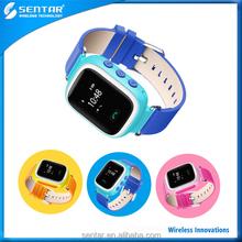 GPS tracker kids watch 2 Way Calling Comfortable Watch strap Kids GSM GPS Tracker Watch with Rechargeable Battery