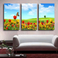 3 pcs Free shipping Home Decor Canvas Frameless Flowers Modern Wall Canvas Painting Art HD Picture Print On Canvas Artwork