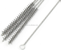 Industrial 15mm Dia Stainless Steel Round Wire Pipe Tube Cleaning Brush