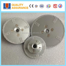 Sharp cutting 80mm 100mm 125mm 230mm brazed diamond saw blade with flange for reinforced concrete , stainless steel and stones