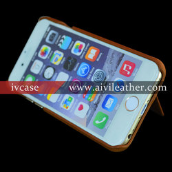 2016 featured products premium leather cover for iphone 6 plus case leather with card slots