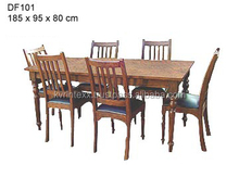 antique look dining table