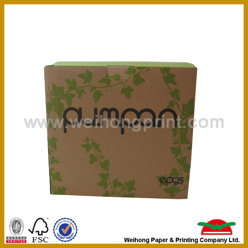 Ecofriendly Heavy duty corrugated packing box in brown / white