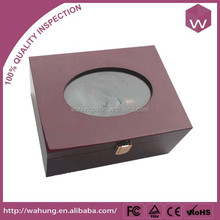 Novel Design Wooden Wine Glass Gift Box/Custom Wine Bottle Carrier Case Hot Sale