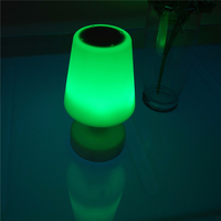 2015 modern led table lamp speaker for bedroom,mini table vibrating speaker