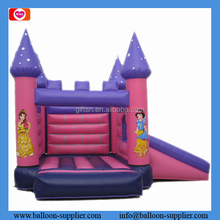Hot adventure inflatable toys commercial grade pink princess themed inflatable bouncer