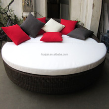 rattan round bed for home use YPS058