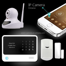 2015 new GSM WIFI alarm system first released with beauty phone APP and door chime wireless intruder alarm system G90B