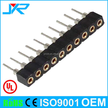 SIP Type and Audio & Video PCB Application 1.0mm dip round female pin header single row 10 pin connetor with cap
