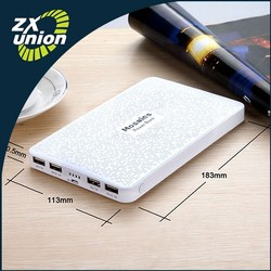 2015 New Products 4 USB Charger Good Quality Travel Charger Mobile Power Bank 20000mAh