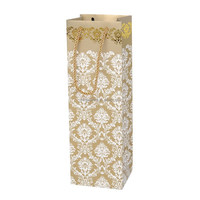 personalized wine gift paper bags with gold stamping